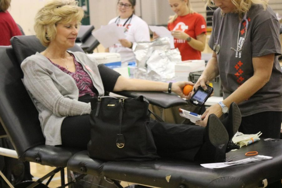 HOSA+Blood+Drive+on+September+29th+allowed+for+both+students+and+staff+to+volunteer+their+time+for+a+good+cause.+