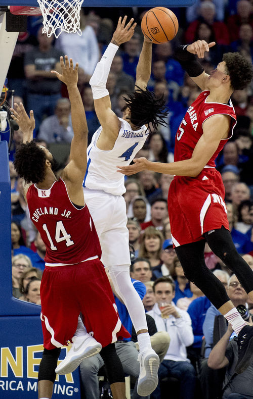 Creighton+and+Nebraska+players+fight+under+the+basket+for+a+rebound+and+put+back.+