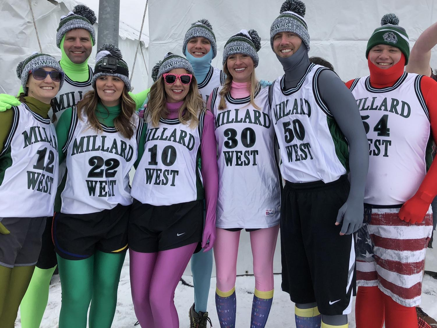 Millard West faculty team gets ready to take the plunge into Lake Cunningham