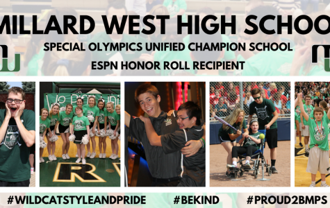Millard West's ESPN Honor Roll Recipient banner.