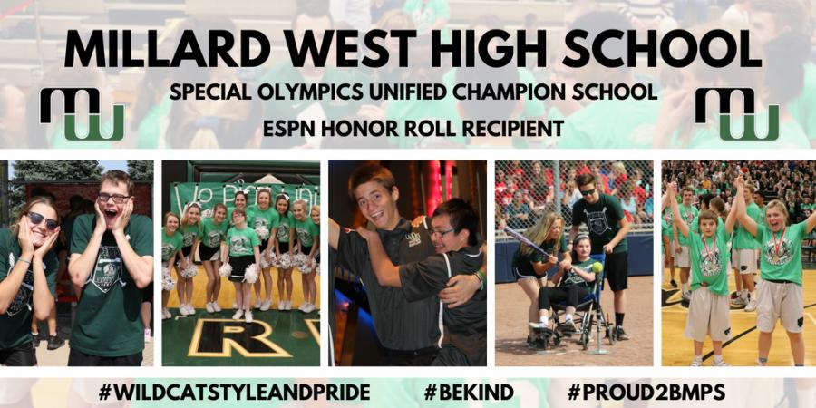 Millard West's ESPN Honor Roll Recipient banner.