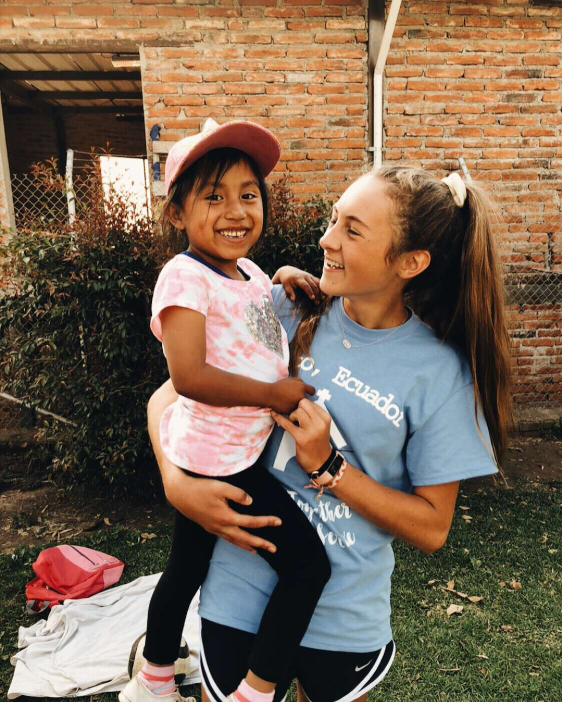 Sophomore Elise Nyffeler in Ecuador making a difference