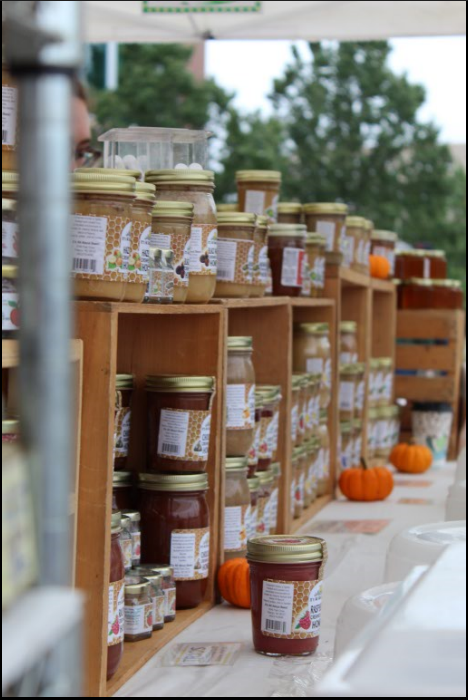 Out of the hundreds of booths that lie within the farmers market, there is one that stands out among the others. It's all about Bees! owner Wendy Fletcher has been running her booth for about 13 years and has loved every minute of it.