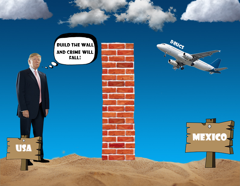 """""""Build the Wall and Crime Will Fall"""" But That's Not True at All"""