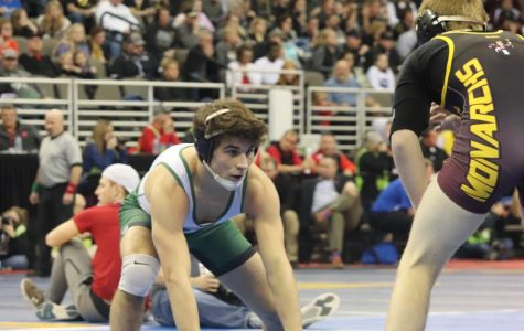 Senior Wrestler Stands Tall at the Top of the Podium