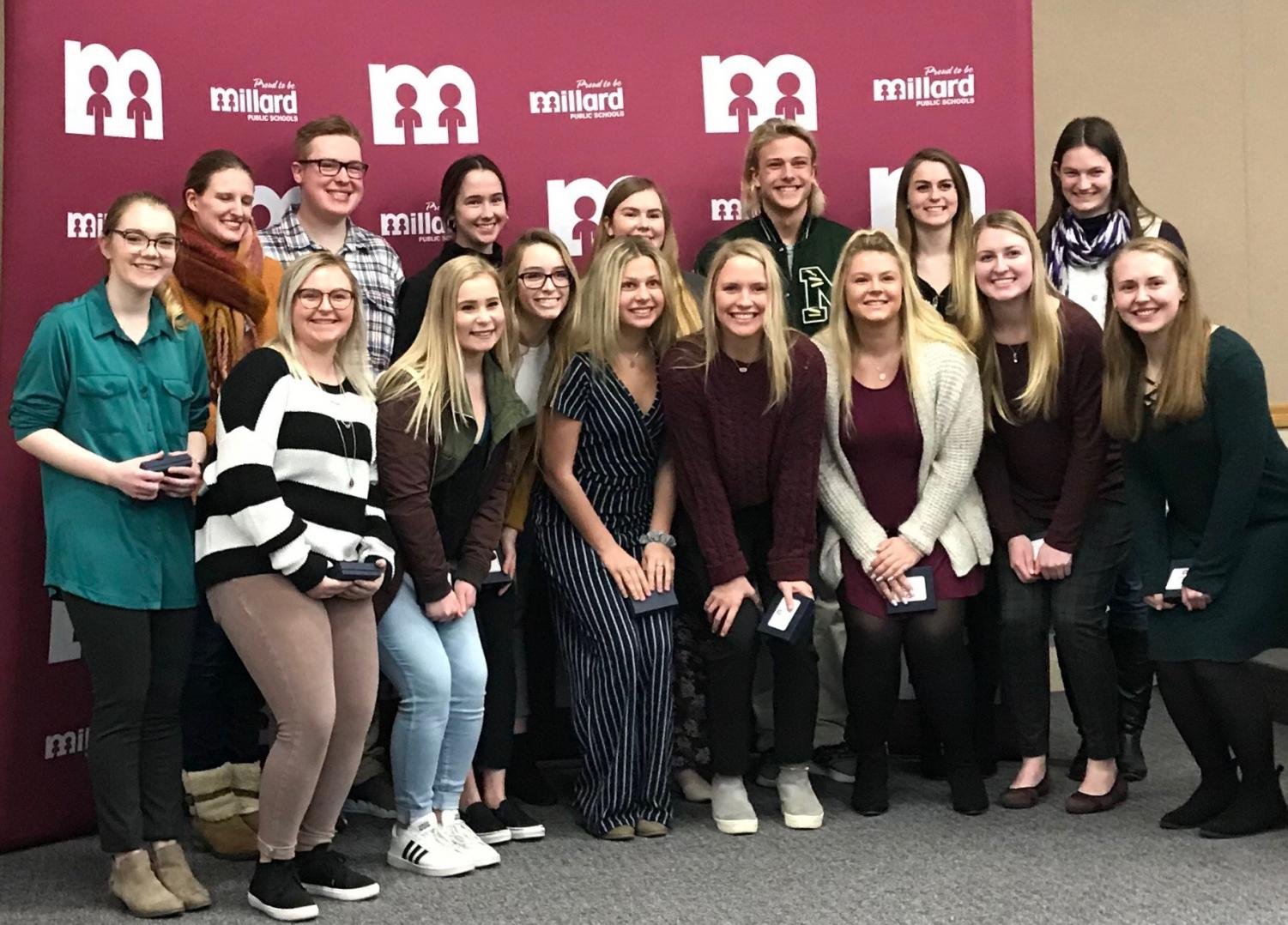 All members of the Millard Educators Rising Chapter that placed in the top five at the State Conference and qualified for Nationals.