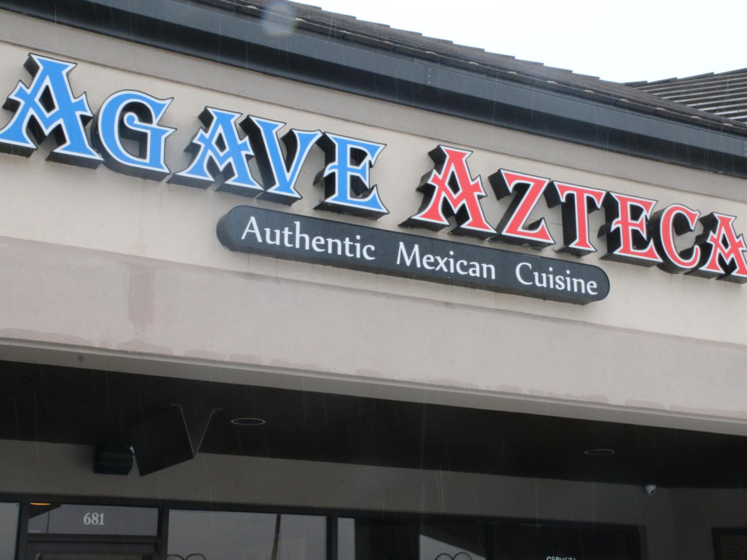 Front of restaurant, Agave Azteca