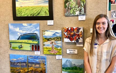 Senior paints her way to the public
