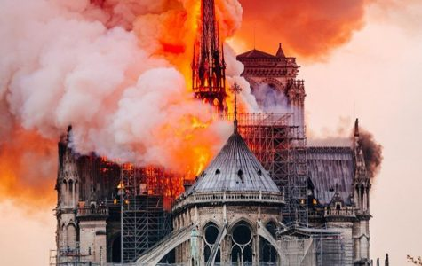 Notre Dame roof burns for hours
