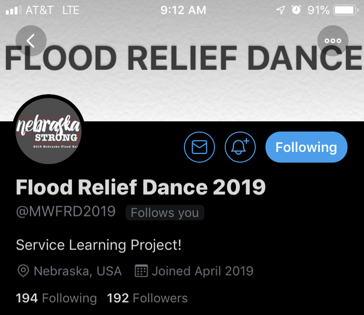 Flood Relief Dance gets cancelled