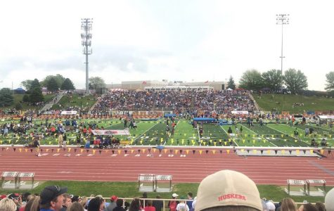 Millard West track races through the NSAA State track meet