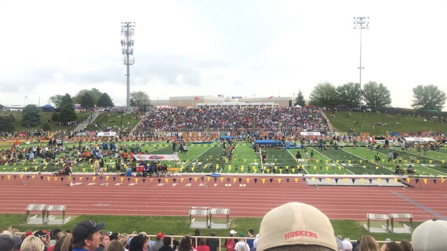 Millard West track races through the NSAA State track meet