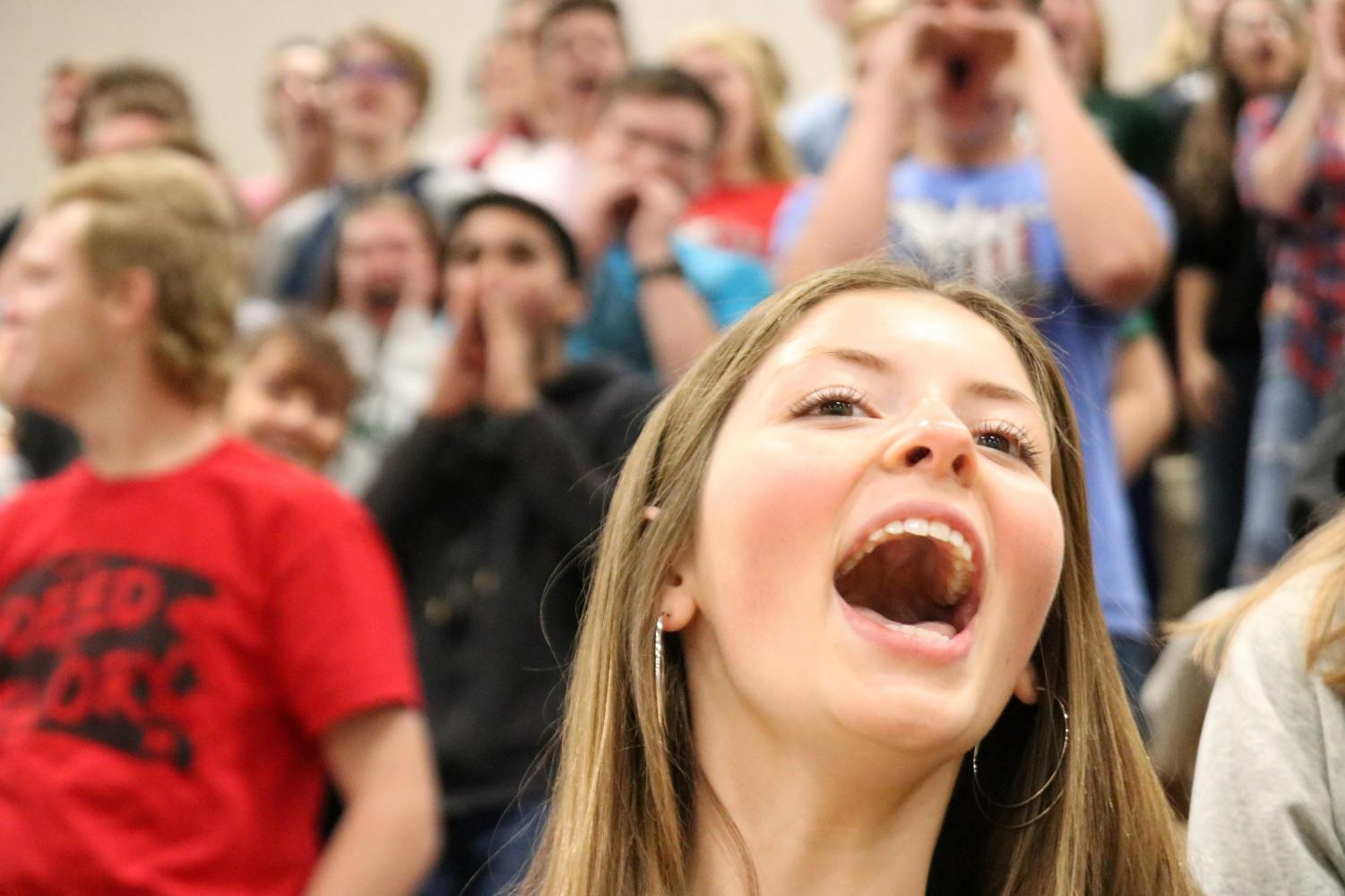 Students+cheer+for+the+Crazies+at+Friday%27s+pep+rally.