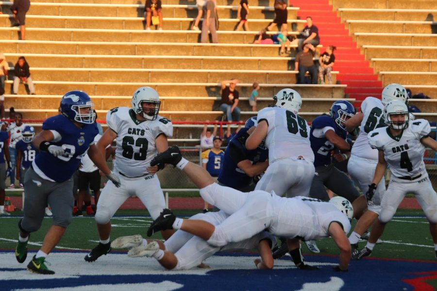 A collision occurs between the Wildcats.