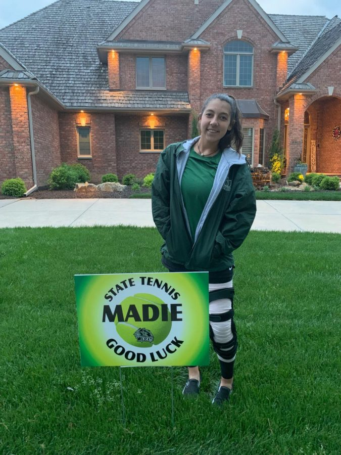 Madie Beninato ready to take the court after her season ending injury last year.