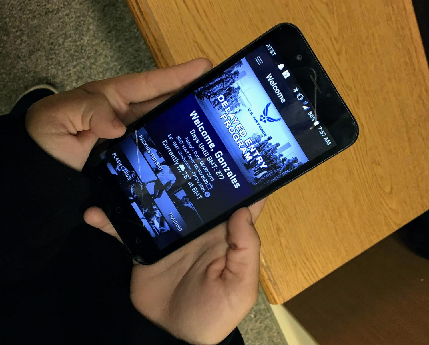 Senior Mackenzie Gonzales uses the DEP app. This app helps her study for tests and prepare for certain events.