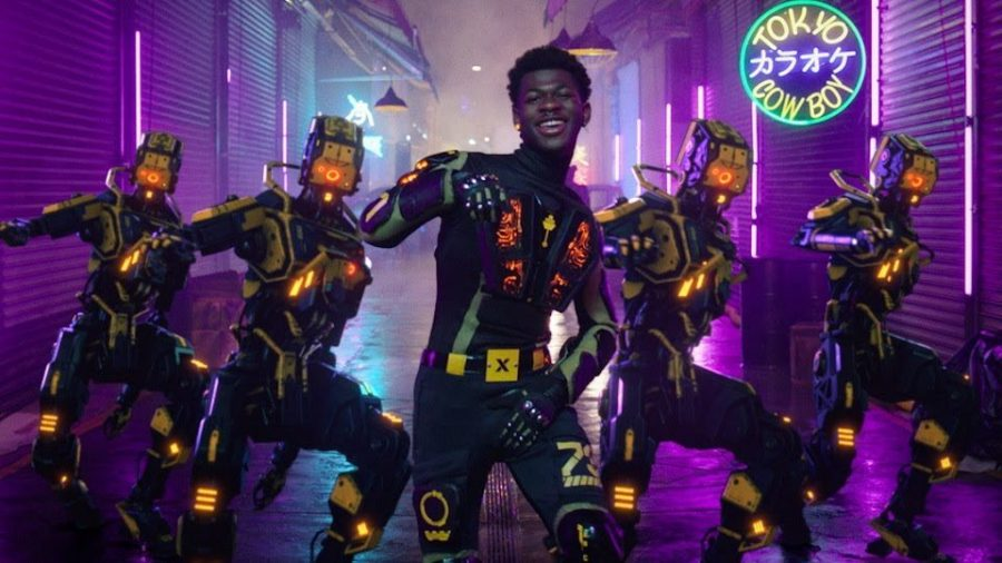 Lil+Nas+X+dances+to+his+new+hit+song+Panini+in+his+music+video.
