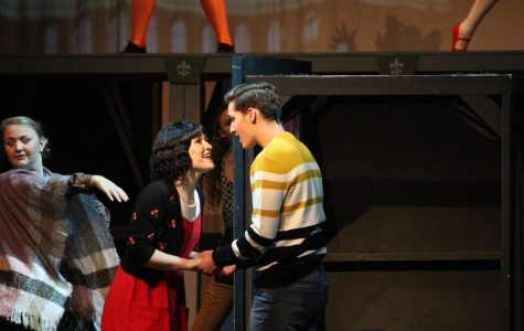 "Throughout the play, there are many emotional moments which can be heard through the voices and movements of the actors. Perhaps one of the most beautiful scenes is towards the end. This is when Amelie and Nino reunite and captivate the audience with their captivating performance. ""The play has some very moving moments because it's about a little girl who is very introverted and went through a lot of different traumatizing events in her life,"" Moore said. ""However, it's all told through a very whimsical manner so you don't leave feeling like 'oh gosh that was really rough"", and has a beautiful, happy ending."""