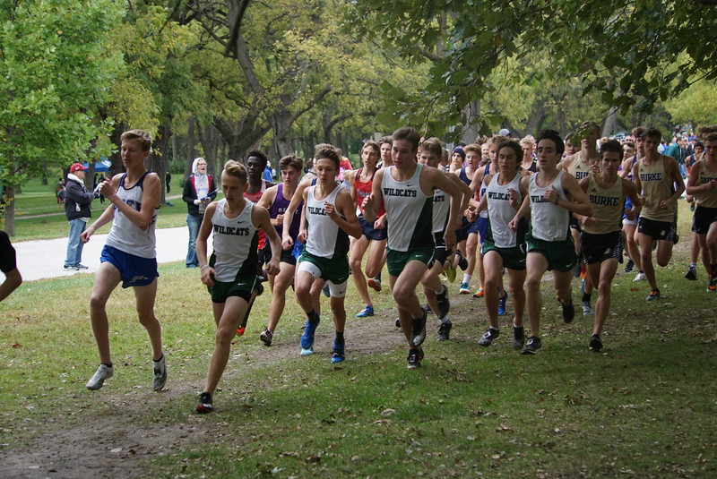 The+varsity+boys+team+gets+a+great+start+and+runs+together+as+a+pack.+%E2%80%9CThe+team+goal+was+definitely+to+get+first+overall%2C%E2%80%9D+Kirchner+said.+%E2%80%9CWe+also+all+wanted+to+PR+%28personal+record%29.%E2%80%9D+The+Wildcats+needed+to+get+a+great+start+to+succeed+in+the+meet.+They+also+know+the+importance+of+running+in+a+pack%2C+because+this+allows+them+to+push+each+other+to+run+faster.