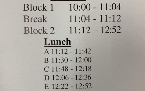 This schedule will be the one followed on late start days.