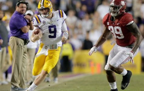 "The LSU Tigers ""rolls"" over the Tide"