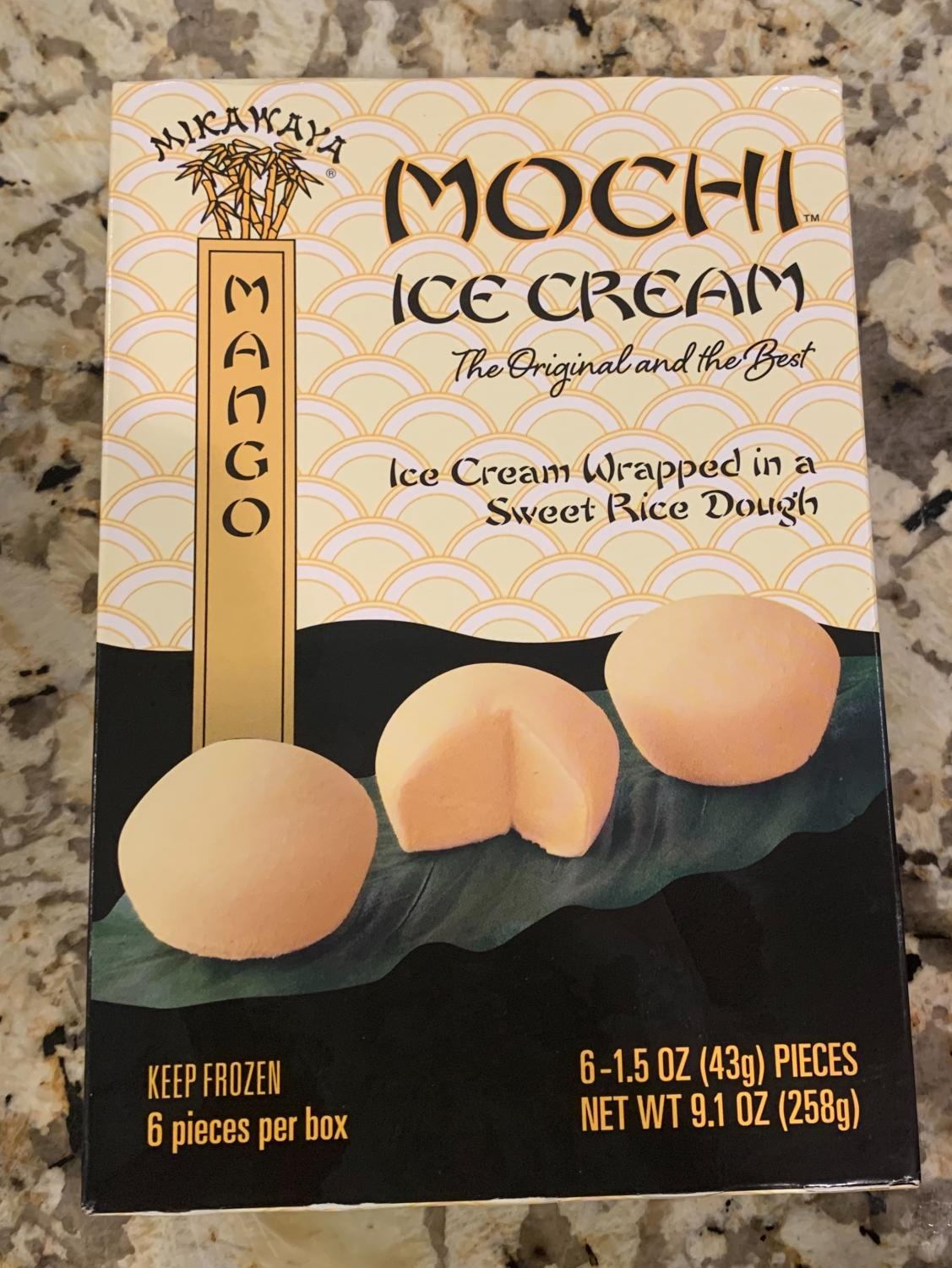 Mochi ice cream can be found in many flavors such as vanilla, strawberry, mango or matcha.