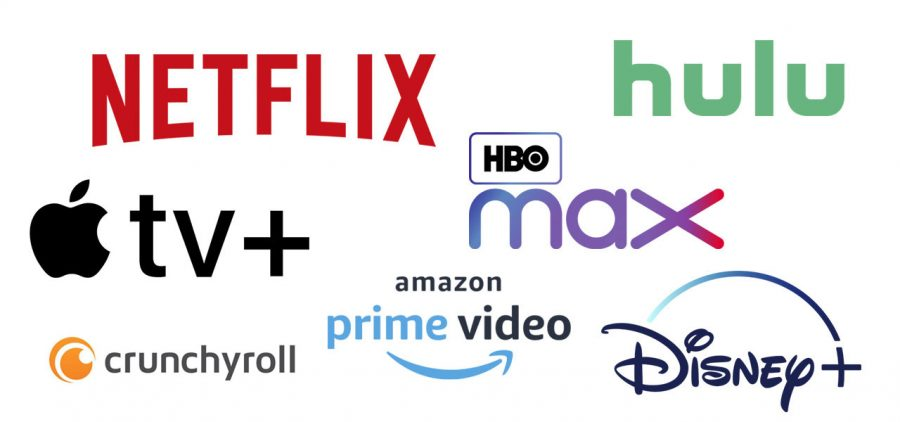 Many different streaming platforms exist. Above are highly popular services that are used in many households. Cable is becoming less and less favored as these platforms grow. Streaming is a quick and easy way to take in content on the go or at home.