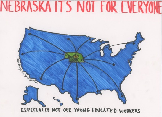 Nebraska has lost a lot of talented citizens from migration to other states