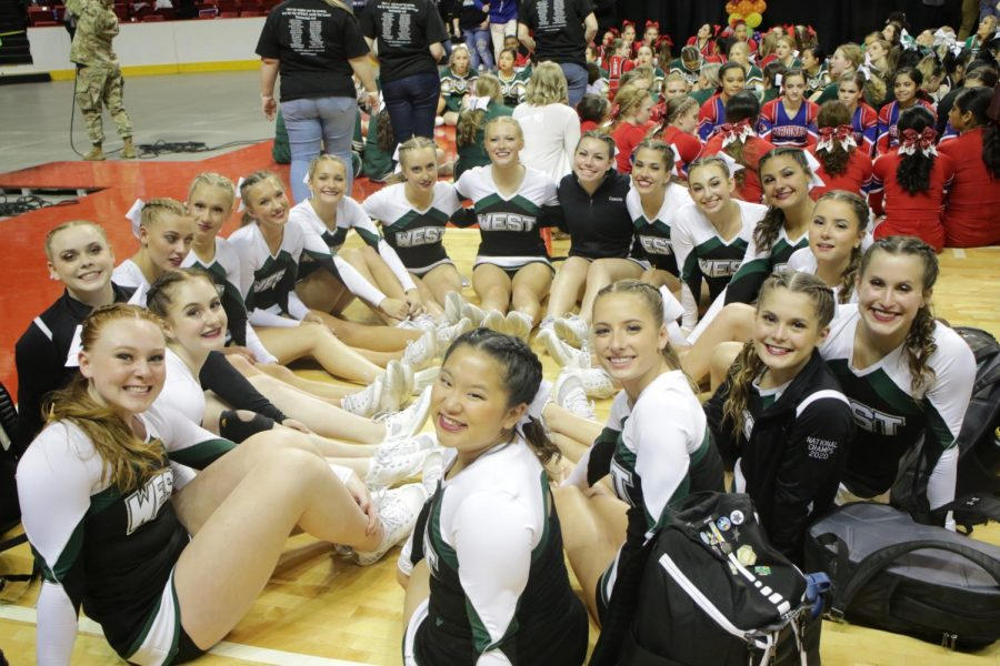Millard West Cheer's Varsity Comp team brought back two state titles in Tumbling and Game Day from the 2020 State Cheer competition.