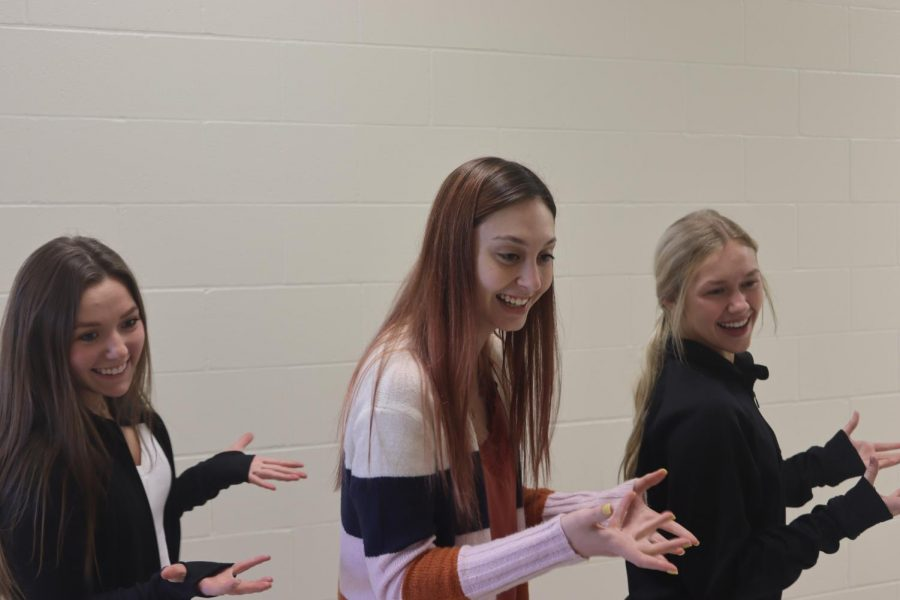 """Millard west students performing TikTok dance together. """"I love how fast TikTok is and all the different types of entertainment,"""" said junior Jenna Reynolds """"if I have three minutes I can just watch a few videos."""""""