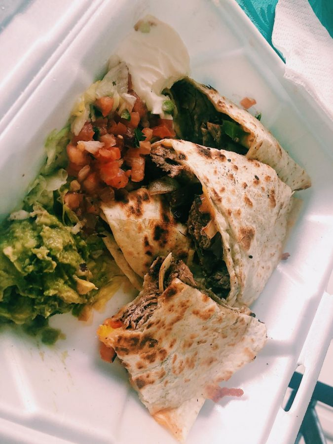 Steak+Quesadilla+Fajita.+It+is+filled+with+steak%2C+cheese%2C+peppers+and+onions.+It+was+delicious+and+very+appetizing.