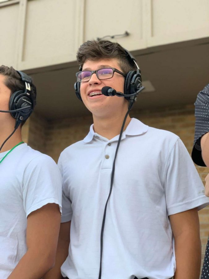 Junior Jon Willis began commentating in his junior year of highschool and continues to pursue his dream of being a professional sports commentator.