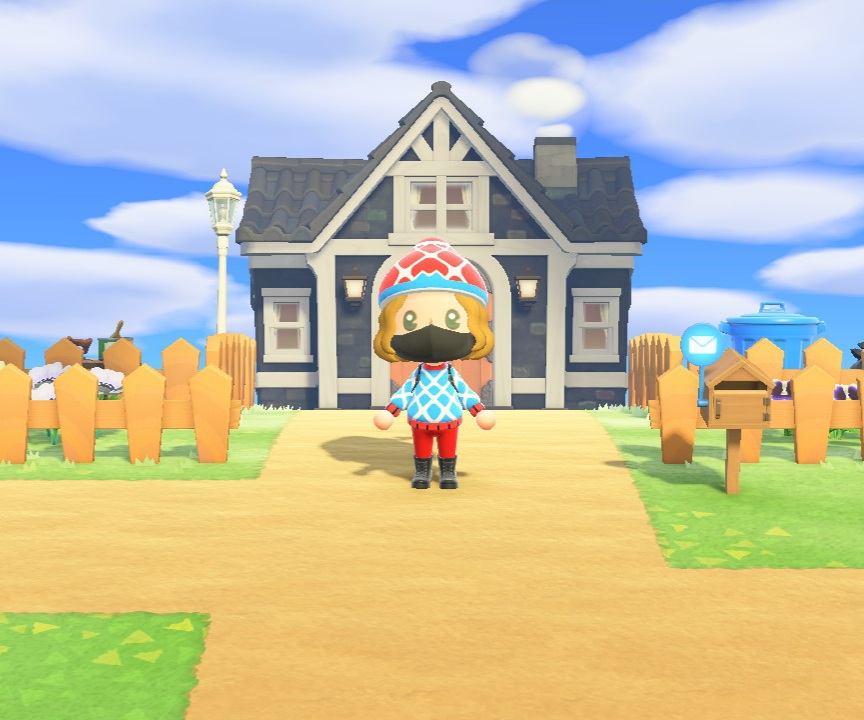 Image of my House in Animal Crossing New Horizons  after around 70 hours of gameplay and completion of  the main story.