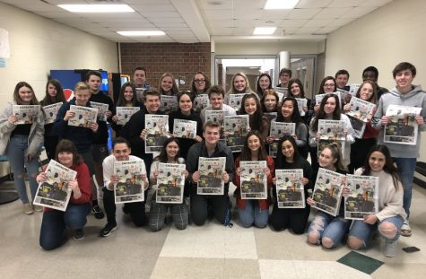 The staff and I show off our newly-printed Volume III Issue II edition of the CATalyst Newspaper. Although stressful, designing the newspaper was always so rewarding when the final product was put together and printed.