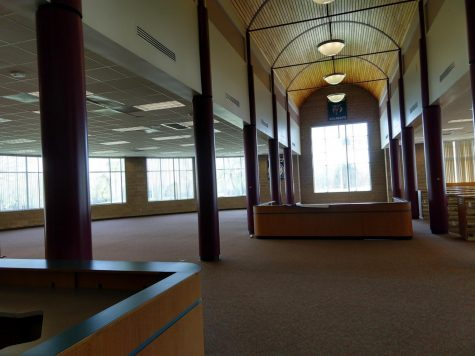 On May 5, demolition began in the newly emptied library, the construction company is working towards finishing everything up by late July.