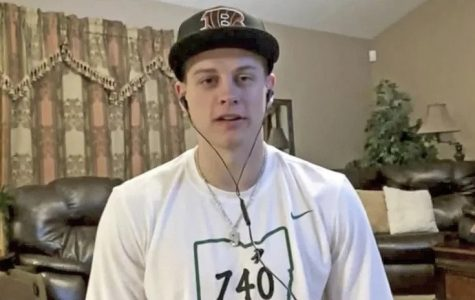"""Joe Burrow talks to ESPN analysts live through zoom after being selected first overall in the draft. An Ohio-native, Burrow is excited to put his team and his state on the map next fall. """"I'm ready to get to work,"""" Burrow told ESPN's Trey Wingo. """"Let's go win a Super Bowl."""""""