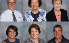Photo of all the teachers retiring from Millard West in 2020. Top from left to right Jim Mercer, Candida Kraska, Bonnie LaMay. Bottom from left to right Stacy Longacre, Kerri Fusselman, Steve Besch.