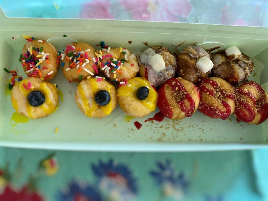 The+doughnuts+from+Dapper+Doughnut.+Birthday+cake%2C+S%27+mores%2C+Lemon%2C+and+Strawberry+Bella.+They+were+one+of+the+best+treats+I%27ve+had+in+a+while.+
