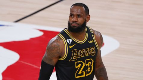 """LeBron James dons a special """"black mamba"""" jersey for the Los Angeles Lakers in game four against the Portland Trailblazers. The Lakers chose to wear these jerseys on 8/24, celebrated as Kobe Bryant's Mamba Day. """"We just try to go out there and play our best,"""" James said. """"It's always nice to do things like this to honor someone like Kobe."""" The jersey also featured a """"2"""" patch, honoring the late Gianna Bryant's number."""