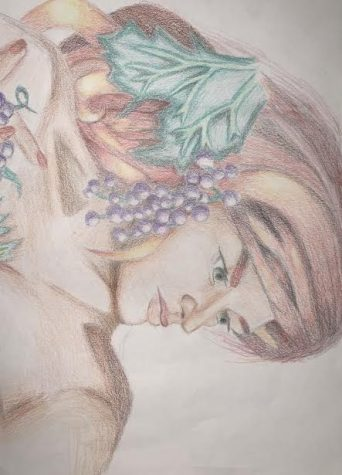 """This photo shows a piece that took Shelton a lot of time. Using her Prisma colored pencils she did a really good job shading. """"The attention to detail took me the longest time Shelton said."""" """"Making sure the facial features were the correct proportions was the main challenge. I did have a lot of fun planning this out and shading everything."""""""