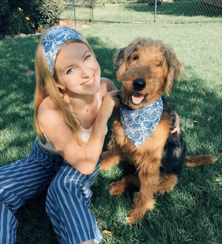 "Dog bandanas cost around $8.00 for smaller dogs and $10.00 for larger dogs, and scrunchies cost around $5.00. ""I choose patterns based on what is trending and also basic patterns, like flannel, that look great on dogs,"" Horrocks said. ""My favorite is a cow print fabric because I just love how it looks on my dog."""