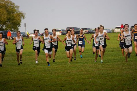 "The Millard West boys varsity team starts the race out strong. The Wildcats' were able to start this race strong which allowed them to stay up front the entire race. ""The start is one of the most crucial parts of the race, and could be argued the most important part,"" Marshall said. ""A good start is needed in order to get a good placement because being out in the front of the pack allows for better pacing, and it is easier to pass people ahead of you when you aren"