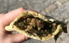 La Sierra is known for their flavorfully filled gorditas, like the one shown with ground beef and mildly spicy poblano peppers.