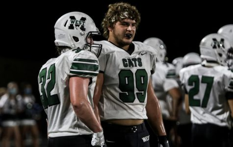 """Senior linebacker Brecken Wallace and senior defensive lineman Tyler Jett discuss the next plan for defense. """"All year being a leader on the field and trying to control the defense was my job."""" Jett said. Millard West faces Millard South this Friday in the second round of the playoffs."""