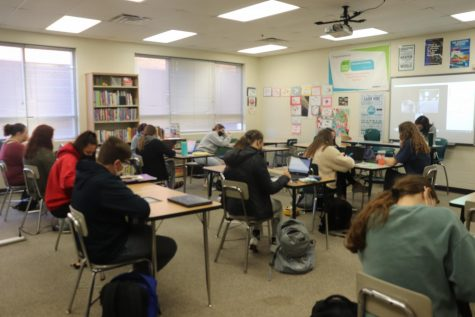 """This is one of the academies Millard Public schools offer. Students will be learning in similar ways that high schoolers in the education academy are, but will be apprehending different content. """"It"""