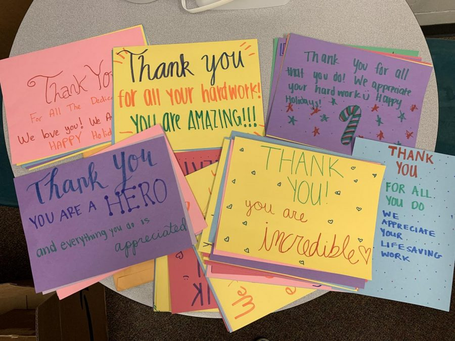 In an effort to put a smile on frontline workers' faces, NHS created lots of colorful and heartwarming cards to send out to them.
