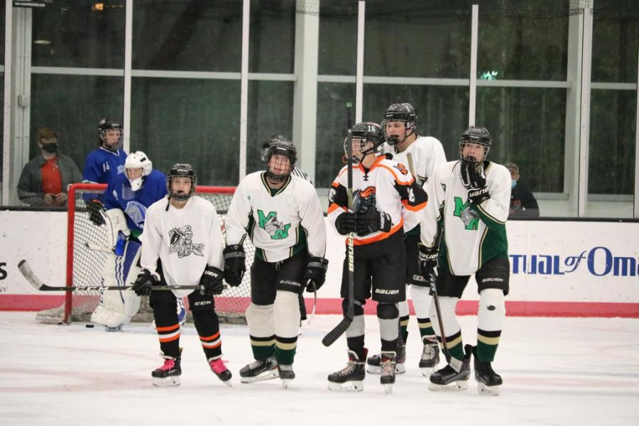 """The Millard West Hockey team took on the Millard North Mustangs for the second time this season. Both teams are desperately looking for a win with the two teams having a combined record of 3-10-1. """"We've been struggling,"""" junior Calvin Halverson said. """"We're just looking for some wins to get some motivation."""""""