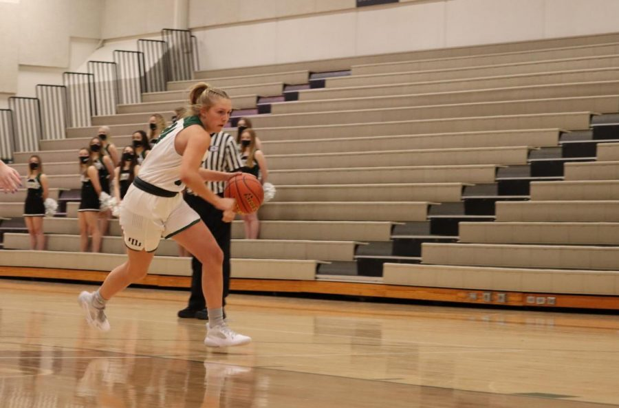 """One of the main reasons the Wildcats have been able to improve their ball movement is through communication with one another. Throughout the season, the team has bonded more which has led to a more dependent game for the players. """"Going into the game I feel we trusted each other more and that led to smarter decisions,"""" sophomore Makenna Scholting said. """"Throughout our season we have all got to know each other a little better on a friendship level, and that definitely helps our gameplay."""""""
