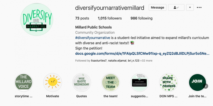 Fighting for a more diverse curriculum in Millard, DiversifyOurNarrative aims to encourage students to learn about more perspectives.