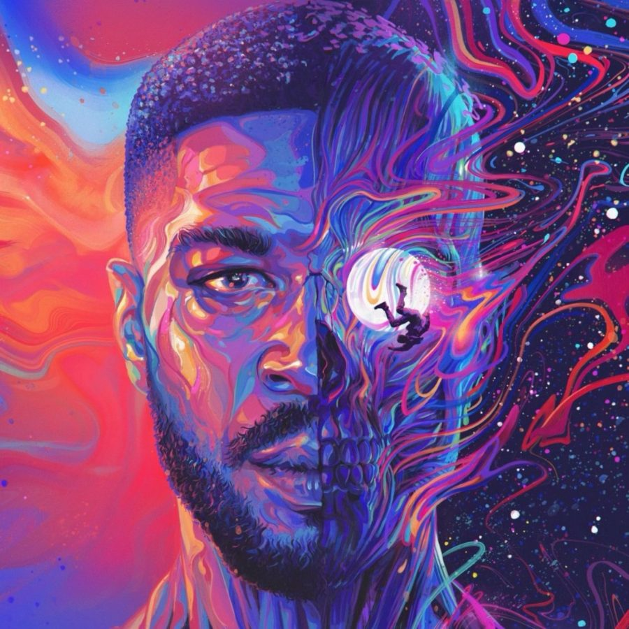 "The Cover art for Kid Cudi's ""Man On the Moon III: The Chosen."" The art symbolizes the changes in Kid Cudi's career since his first Man On the Moon album. The album was a pretty great way to end the series, and now Cudi will likely turn his focus towards ""KIDS SEE GHOSTS 2."""